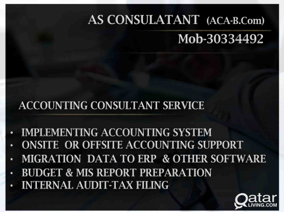 ACCOUNTING CONSULTANT SERVICE