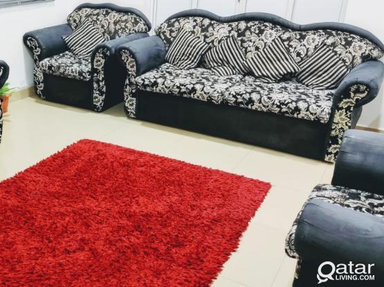 Sofa Set 7 seater (3+2+1+1) with cushion