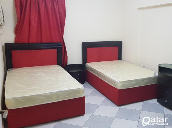 2bhk fully furnished in mushirb 4000 qr. شقه مفروشه بمشيرب غرفتين وصاله