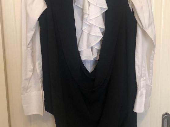 Nu Turkish Brand Black Draped Vest