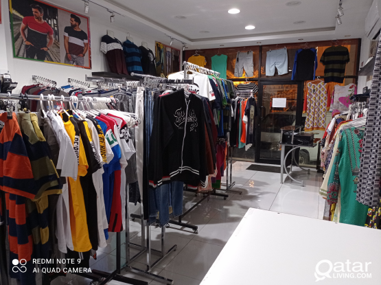 Garments fully furnished shop for sale
