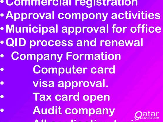 tax, audit, FREELANCE VISA TRANSFER, new company open,company documents renewal,