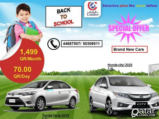 TOYOTA YARIS 2019 MODEL CAR AT JUST 1499QR PER MONTH.CALL US-50309511/44687507.