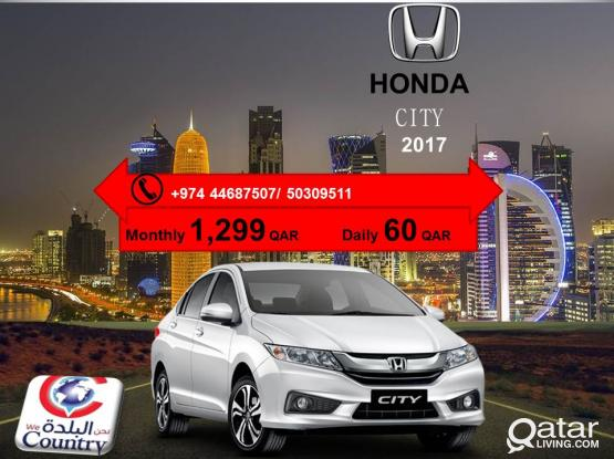 2017 MODEL HONDA CITY AT JUST 1299QR/MONTH.CALL US-50309511/44687507.