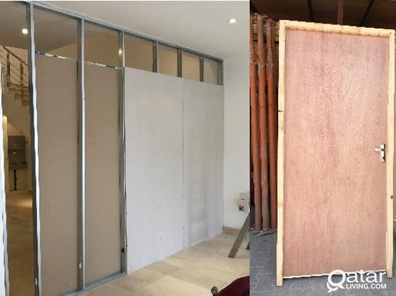 Gypsum partition, Door & Painte