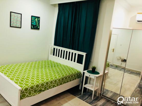 Fully furnished studio apartment - Near Wholesale market/Dar AL Salam Mall No commission