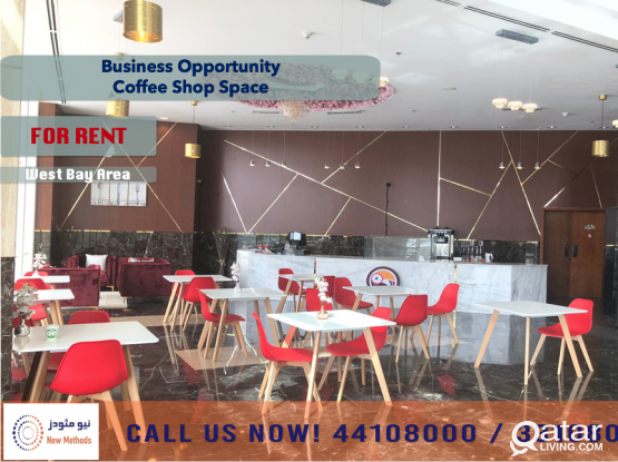 COFFEE SHOP SPACE IN PRIME LOCATION - FOR RENT