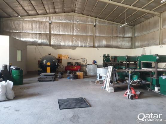 store & workshop 400 sq.m  + 14 rooms industrial area