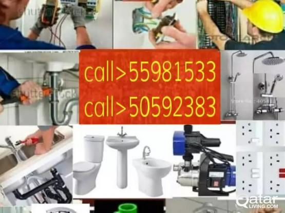 all kinds of Electric,Plumbing and maintenance service work. Please call me 55981533.