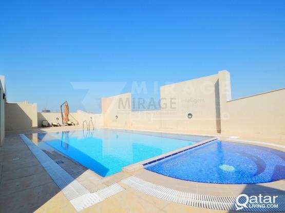 2 Bedroom Semi Furnished Apartment in Al Muntaza