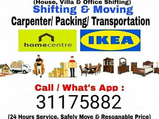 Doha Moving Service Shifting And Moving Home villa office shifting Please call me 31175882