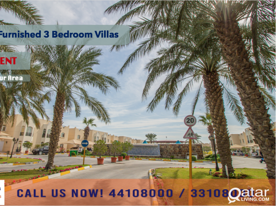 SEMI-FURNISHED 3 BEDROOM, 1 FLOOR VILLA AT ABU HAMOUR - FOR RENT