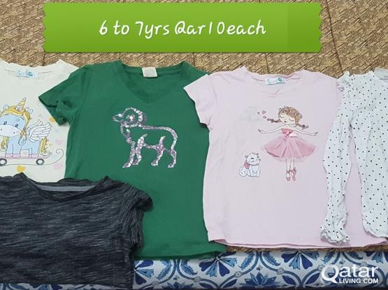 Girls cloths - 2 to 8 yrs age