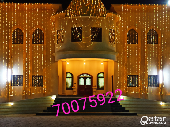 All type of lighting for all occasion. Please call