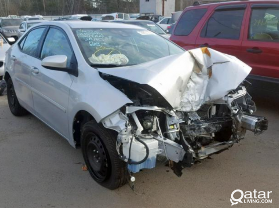 Spare parts available Toyota Corolla 2014