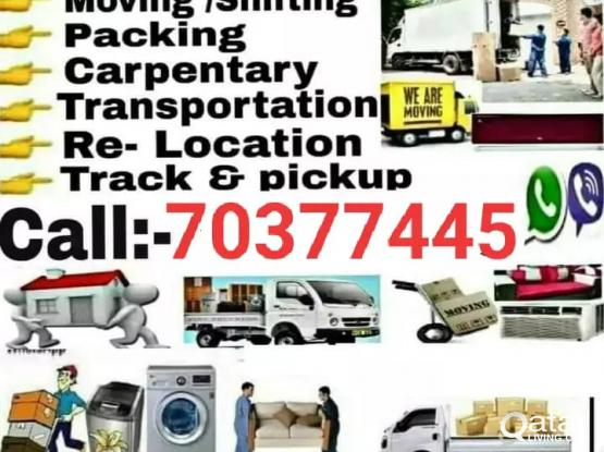 All kind of shifting and moving services. Please call us 70377445/70112178