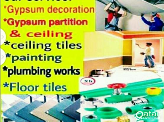 Moving&shifting good price& Gypsum Partition, Painting Work, Maintenance work. Please call 66703725