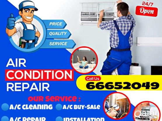 All Kinds of A/C Repair, Servicing ,Cleaning,  available here.juts call: 66652049. 24 hours service in Qatar