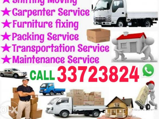 Call 33723824 We do Shifting Moving,Truck/Pickup available Service, I have a tool box Furniture dismantling and fixing,Packing & Transportation Service.
