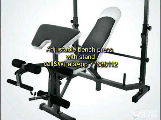 ADJUSTABLE BENCH PRESS WITH STAND