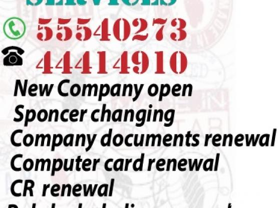 Emigration Services & Typing, company change, PRO works.