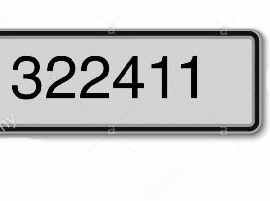 Significant number plate 322411