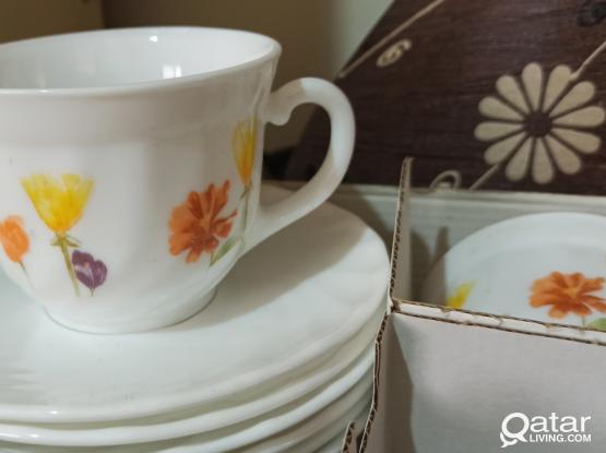 Cup and Saucer Set (Luminarc)