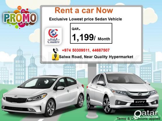 Promo Qr.1,199/ Month Sedan Vehicle  - Call us 50309511