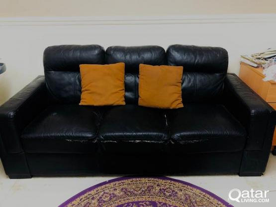 High quality leather sofa set for immediate sale