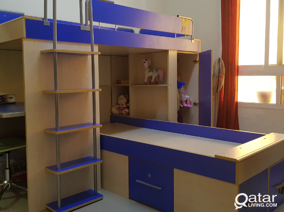 Beautiful and strong wooden bunk bed for sale