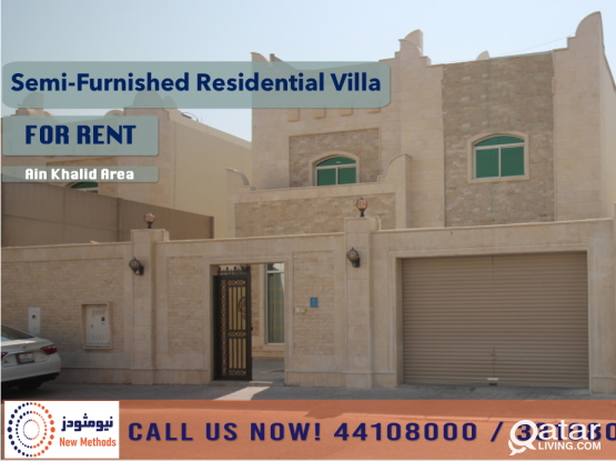 SEMI-FURNISHED RESIDENTIAL VILLA AT AIN KHALID AREA - FOR RENT