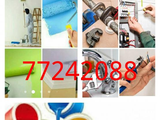 77242088 /77347073 #PLUMBING..SERVICES,  #PAINTEING...SERVICES,.. Building maintenance