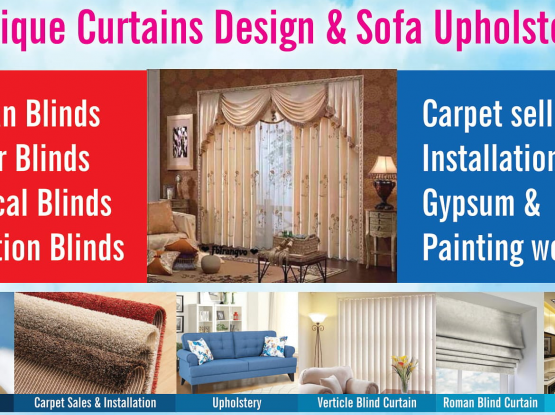 Curtain fixing and Sofa Upholstery