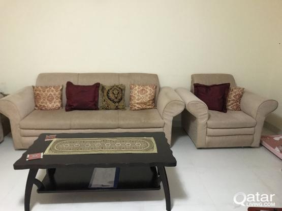 7 Seater sofa and center table
