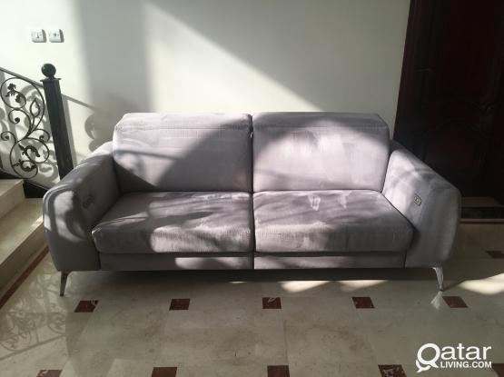 BoConcept Grey Suede Material Two Sofa