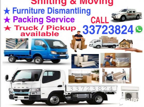 Good price,Shifting Moving,Truck/Pickup available Service,Call 33723824 WhatsApp,I have a tool box Furniture dismantling and fixing,Packing & Transportation Service.