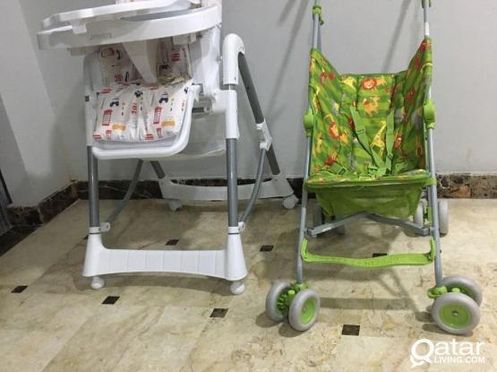 Baby High Chairs And Baby Stroller
