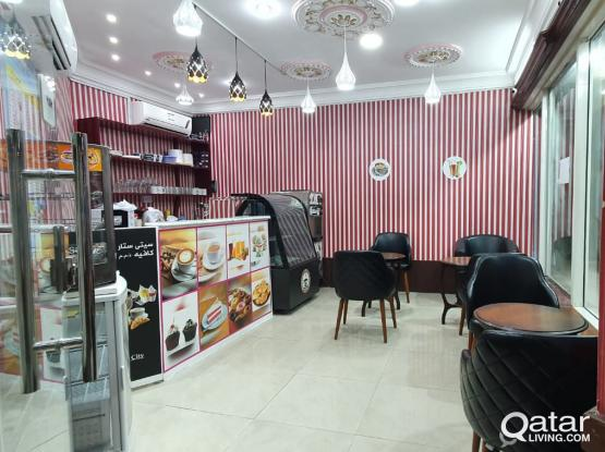 Well Cafe urgent sale or rent in front side of Bin Omran