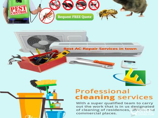 Pest Control/AC maintenance/Cleaning Services