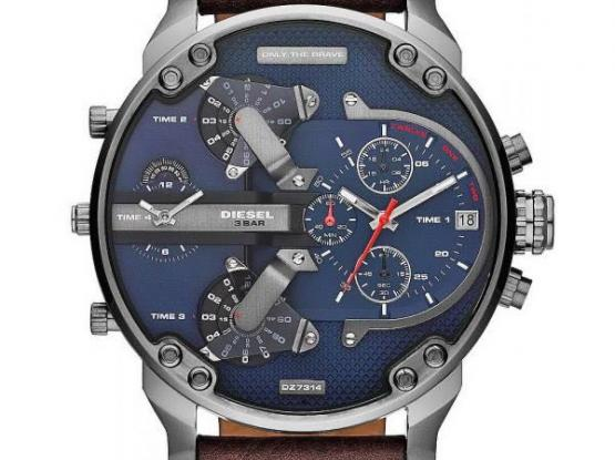 Men's Diesel Watch Mr. Daddy 2.0 DZ7314 Chronograph 4 Time Zones