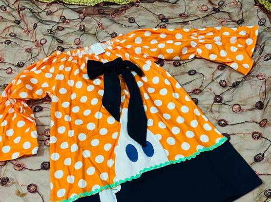 For Sale Imported Baby Party Dress Orange