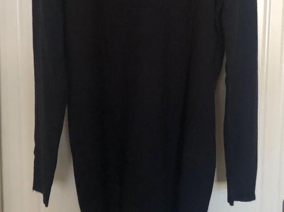 Beaded Black Long Top Or 0ver Knee Long  Dress