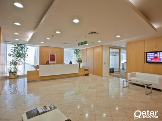 No Commission! QFC Approved 3-4 Peoples Private Offices Available in West bay Alfardan Tower