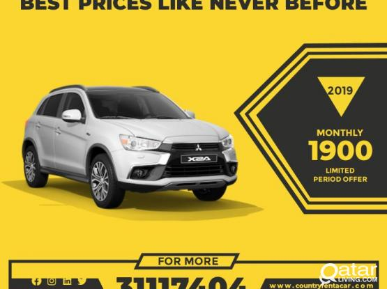Best Deals!! Hire 2019 Model Mistubshi asx 1900 for monthly -31117404