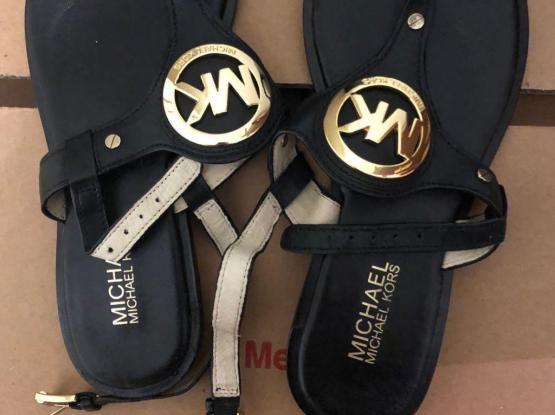 Original Michael Kors Black Flat Sandal