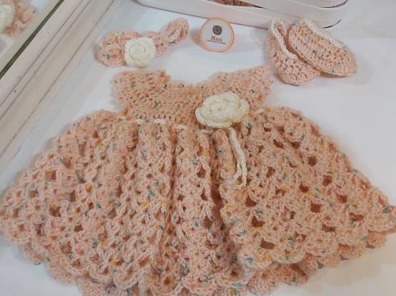 New Crochet baby dress set