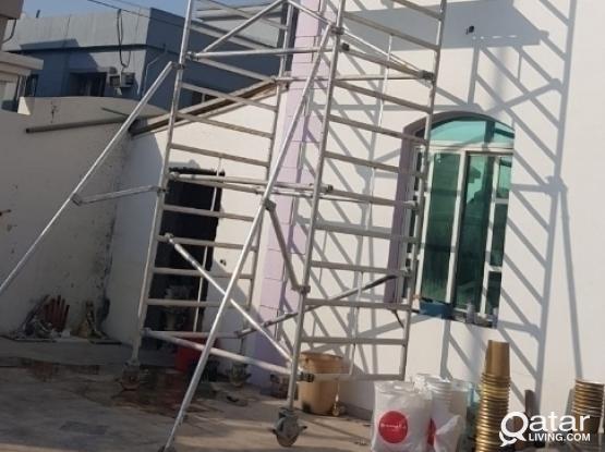 Used aluminium scaffolding