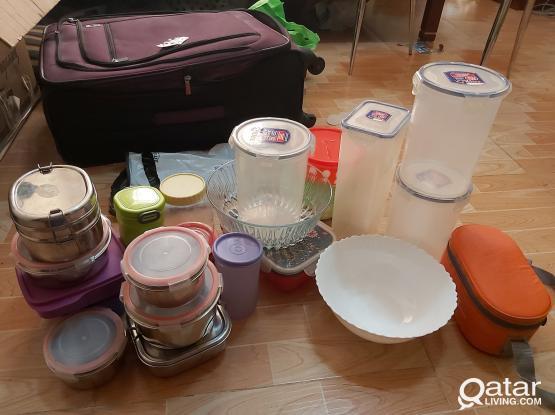 Tiffin box storage box glass bowls