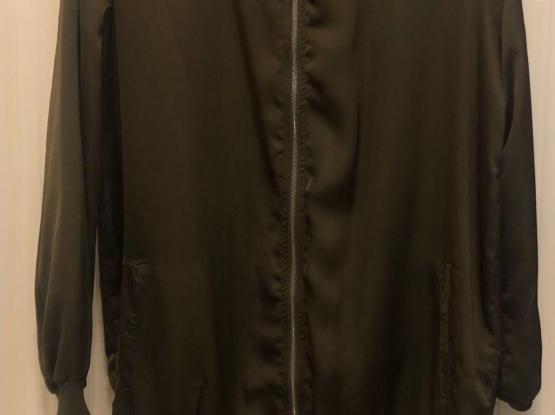 Missguided  Brand Ladies Long Satin Bomber Sweater
