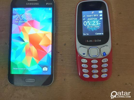 Samsung core and normal phone(No charger No headset.. only mobile)